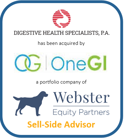 Digestive Health Specialist, P.A. has been acquired by OneGI a portfolio company of Webster Equity Partners | Sell-Side Advisor