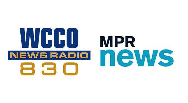 WCCO 330 and Minnesota Public Radio logos