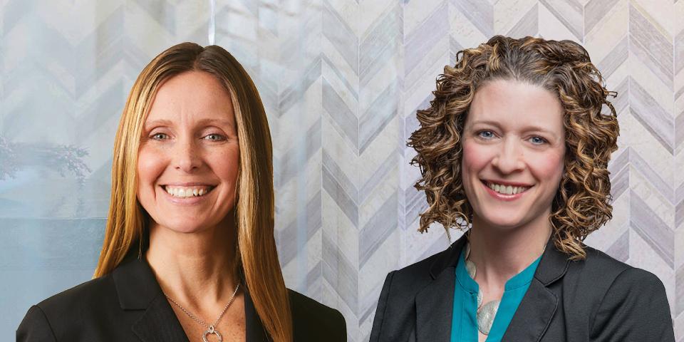 Composite photo of Lauren Callahan and Katie Costigan.