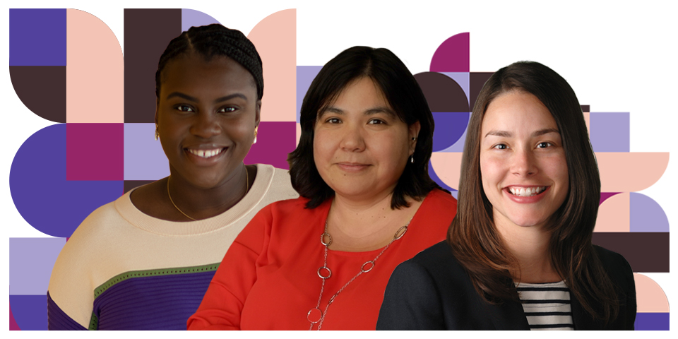 Composite photo featuring Isioma Nwabuzor, Mei Robertson, and Maria Watts