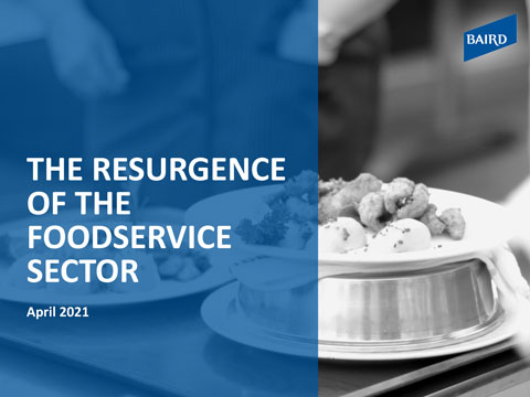 Resurgence of the Foodservice Sector report cover