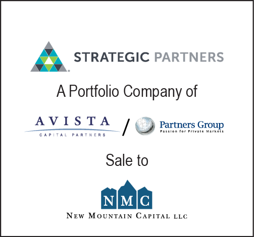 Baird served as the exclusive financial advisor to Strategic Partners, Inc.