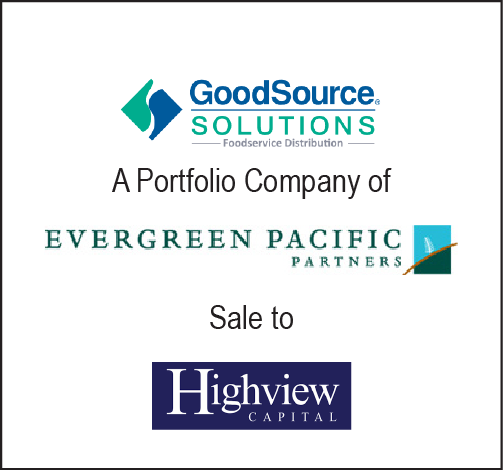 Good Source Solutions Sale to High View