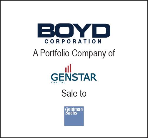 Baird Advises Boyd on Sale to Goldman Sachs