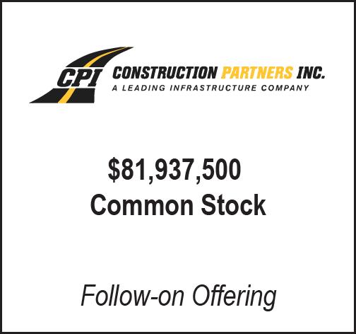 Construction Partners Inc.